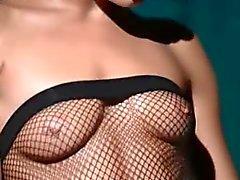 Luxe glamour masturberen in panty