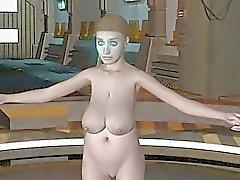 3D Animation Alien Abduction 2
