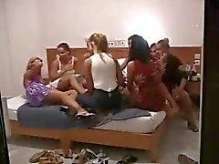 Amateur Lesbian Orgy - Hidden Cam - Part 2