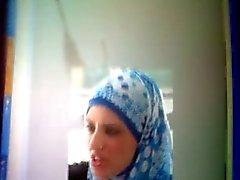 Выстрел спермы Дань уважения к арабских шлюха Насира