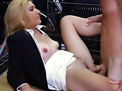 Hot blond milf gets her pussy drilled by nasty pawn guy