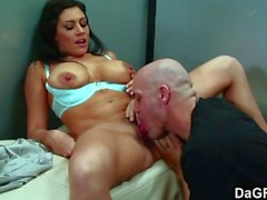 Horny milf gets banged in the elevator