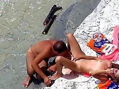 VOYEUR Câmera em razão do sexo praia pública