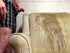 Peeing And Cumming On A Chair