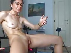 Skinny Russian Cam Girl Cums Hard for Tips
