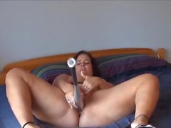 Cunt filled with baseball bat and cucumber - Compilation