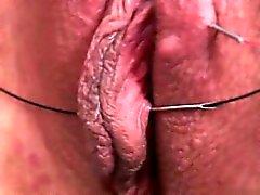 Petite amie mignonne close up orgasme