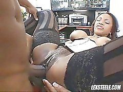 Хардкор черный секс со грязный порнозвезда нимфоманка Ayana Ангеле