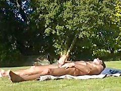 outside sunbathing