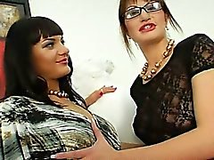 Extreme lesbian babes toying ass holes