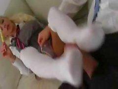 Gorgeous Delta White hottest schoolgirl lollypop play!