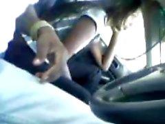 desi-malaysian tamil girl giving bj in car