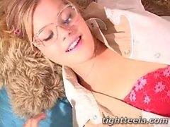 Tight Teela Glasses Blowjob