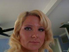 Blonde Casey Cumz in tiny panties gets fucked
