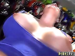Smoking hot babe with big tits fucked in garage!
