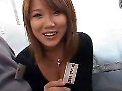 Sottotitolato giapponesi intervista stelle AV pompino sul bus