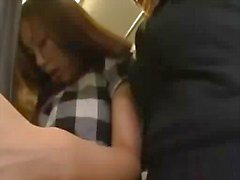 Asian Girl Rapped By 2 Girls On The Bus Sucking