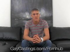 Innocent blond jock creeped on and fucked by gay castings predator