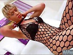 Brazillian TS Anna Hickhiman toying her ass and masturbating