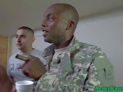 Schwarz Armee Sergeant Arschfick-Kerl