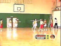 Asian students are playing basketball topless and naked in