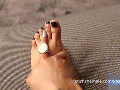 Sensational Shemale Feet Compilation Video - Fetish Shemale