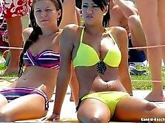 Beach Ragazzi bikini del Voyeur La di HD