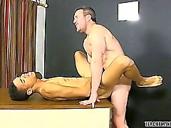 Hunky teacher Brock Landon claims the ass of twink student