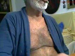 Italian Grandpa Stroke and Cum
