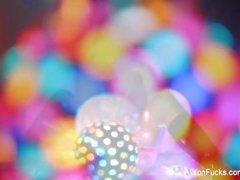 Alison Tyler's super sexy disco ball solo tease