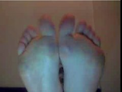 Straight guys feet on webcam #283