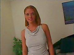 Casting blonde tiener