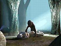 Bastante bebé 3D jodida duro en la bosque mediante de Gollum