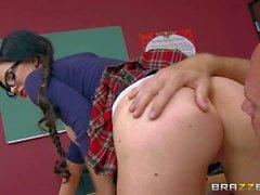 Nasty schoolgirl Kendall Karson with beautiful bubble butt