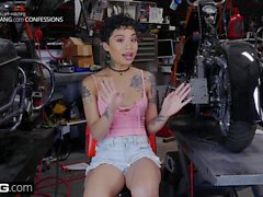 BANG Confessions: Honey Gold Quivers As She Cums On A Bike