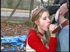 18yo blond teen sucks boyfriend