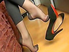 sexy piedi di di nylon prendere in giro