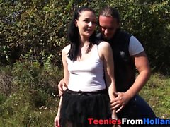 Cute biker teen spunked