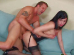 T-Girl hooker boobs jizzed