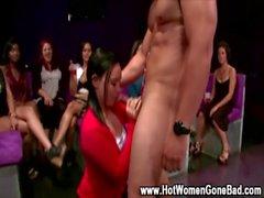 Bitch gets oral from cfnm stripper
