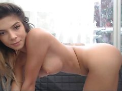 Busty amateur Ryana on solo masturbation