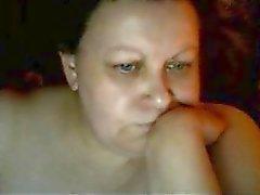 Chaud mère Euro adulte Karen jouer sur skype