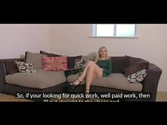 FakeAgentUK Stunning portuguese chick gets eyes glued shut in casting