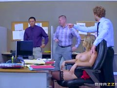Office slut Kagney Linn Karter takes big dick