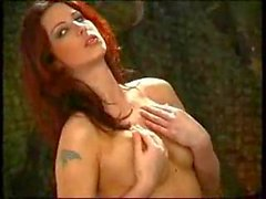 Army Redhead Works Her Pussy