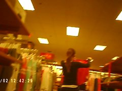 Girl With Awesome Ass In Spandex Working At The Mall