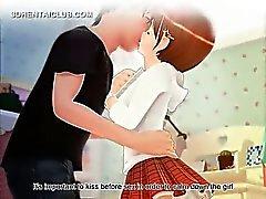 Innocent anime sweetie showing undies upskirt