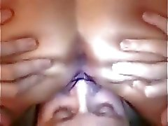 Husband eating wifes creampie