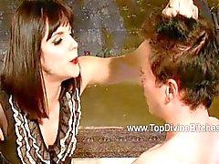 Sparkles licks Mistress Bobbi Starr ass clean