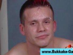 Check horny bukkake gay get covered